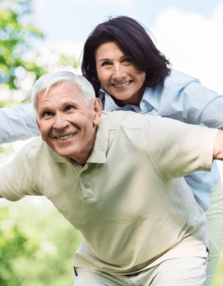 An active couple after retirement